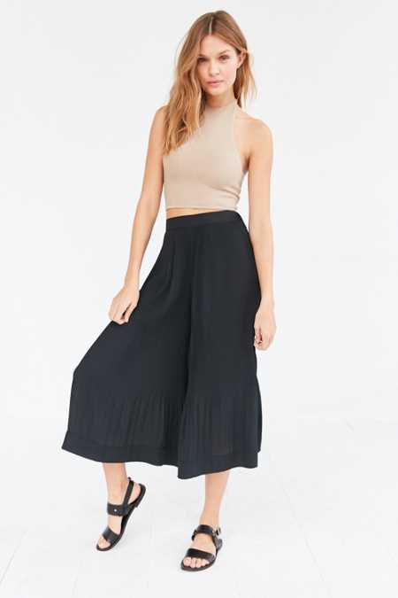 Silence + Noise Sadie Pleated Pull-On Culotte Pant