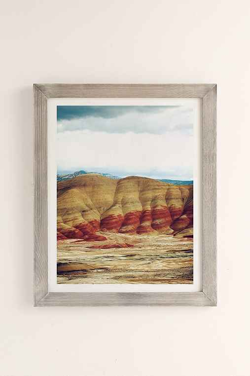 Kevin Russ Painted Hills Art Print,GREY BARNWOOD,40X60