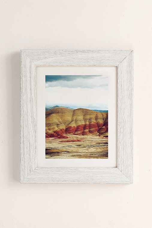 Kevin Russ Painted Hills Art Print,WHITE BARNWOOD,40X60