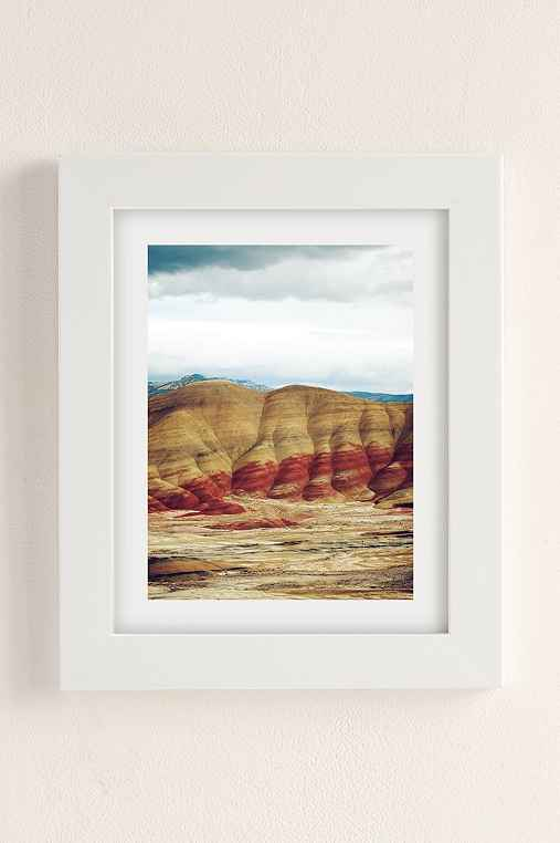 Kevin Russ Painted Hills Art Print,WHITE MATTE FRAME,13X19