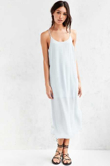 Silence + Noise Slip Midi Dress