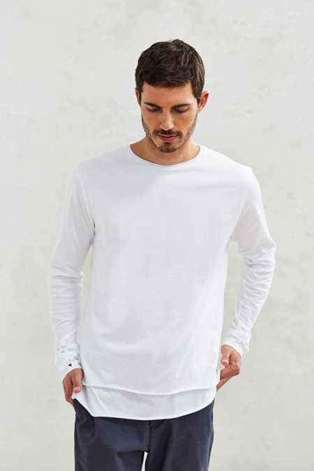 Feathers Double Layer Long-Sleeve Tee