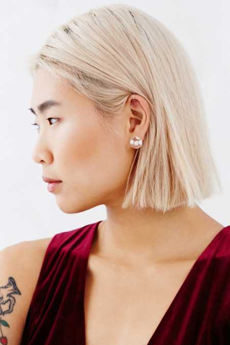 MAYU Front/Back Pearl Bubble Earring
