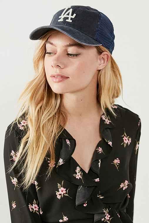 American Needle MLB Raglan Mesh Baseball Hat,DODGERS,ONE SIZE