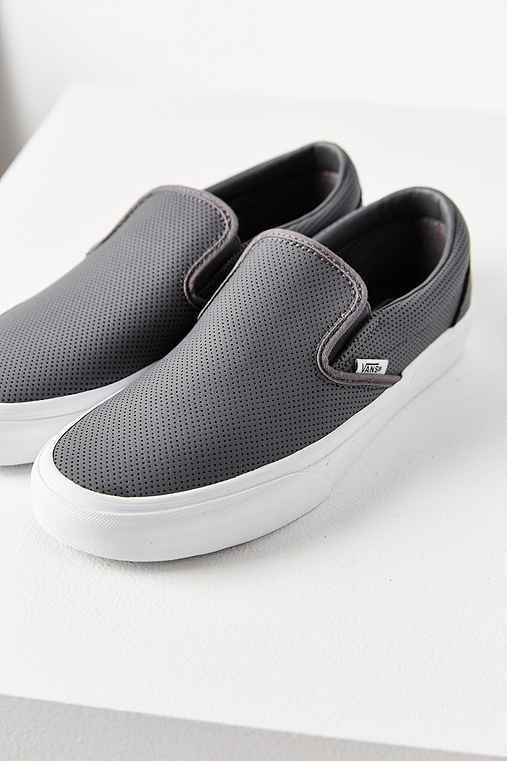 Vans Perforated Slip-On Sneaker,GREY,W 8/M 6.5