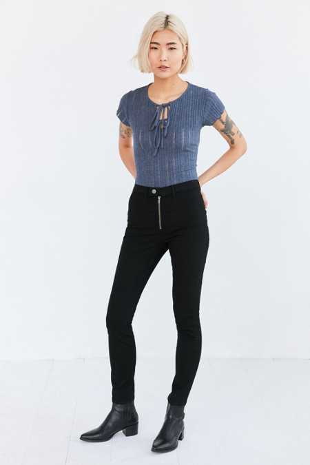 BDG High-Rise Exposed Zip Skinny Jean