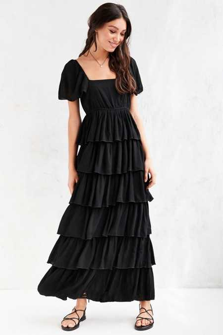 Patrons Of Peace Tiered Ruffle Maxi Dress