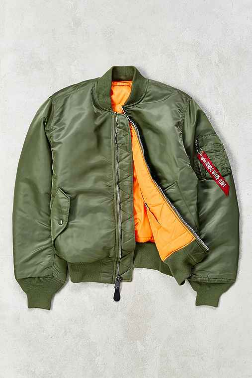 Alpha Industries Classic-Fit MA-1 Bomber Jacket,GREEN,XL