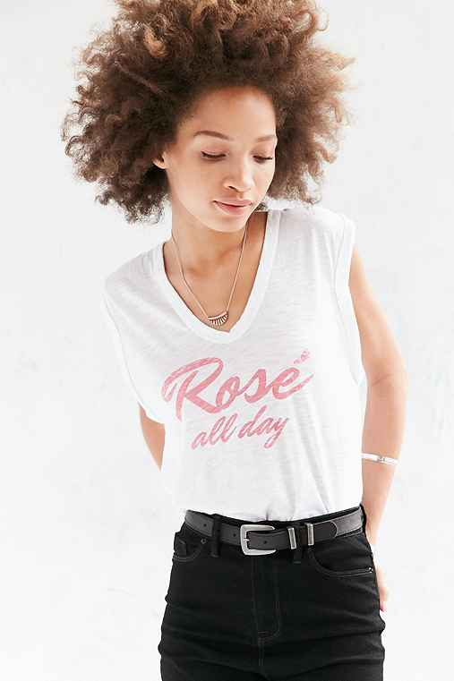 Truly Madly Deeply All Day Muscle Tee,WHITE,XS