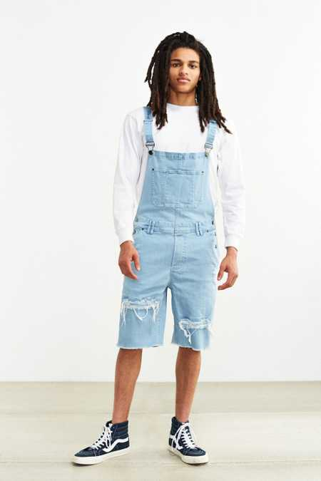 Publish Fonso Destructed Denim Overall Short