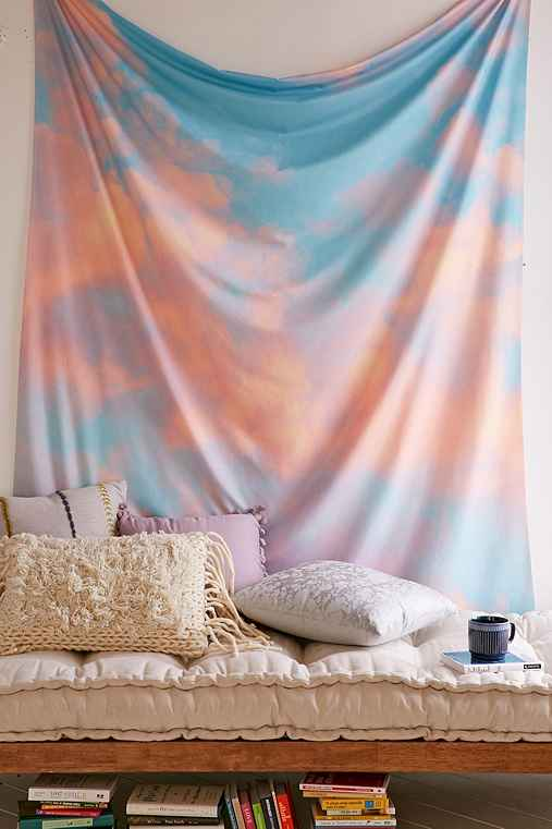 Lisa Argyropoulos For DENY Beyond The Sky Tapestry,PINK,ONE SIZE
