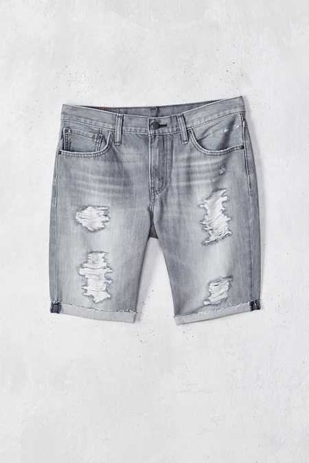 Levi's 511 Goodlands Grey Destroyed Denim Short
