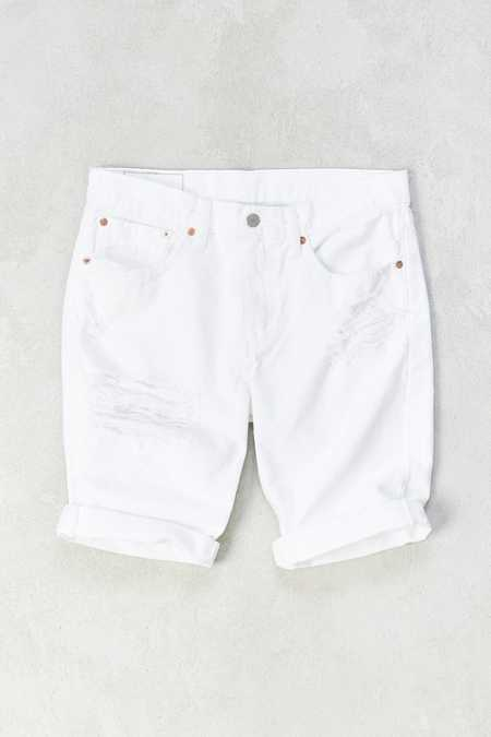 Levi's 511 Slim White Threads Destroyed Denim Short