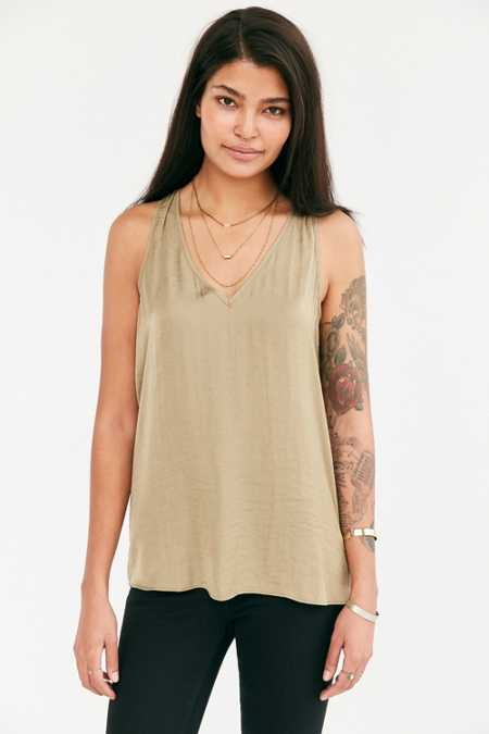 Silence + Noise Jordan Satin V-Neck Tank Top
