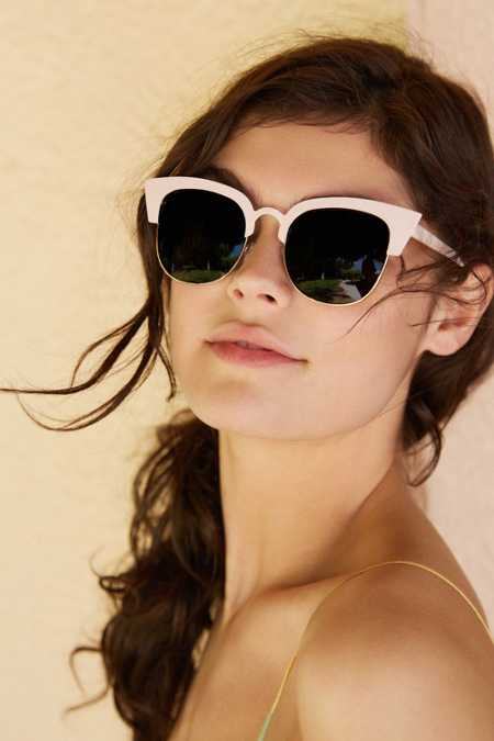 Wilma Half-Frame Cat-Eye Sunglasses