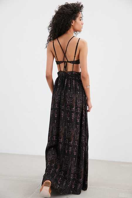 Ecote Hannah Strappy-Back Maxi Dress