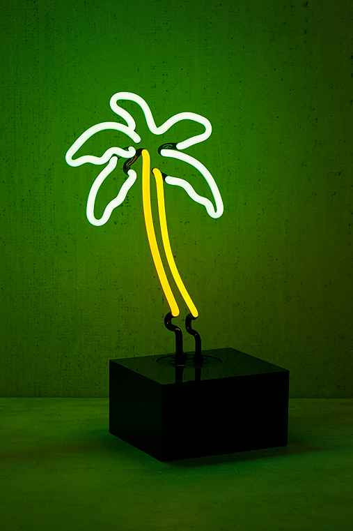 Neon Mfg. Palm Tree Table Lamp,WHITE,ONE SIZE