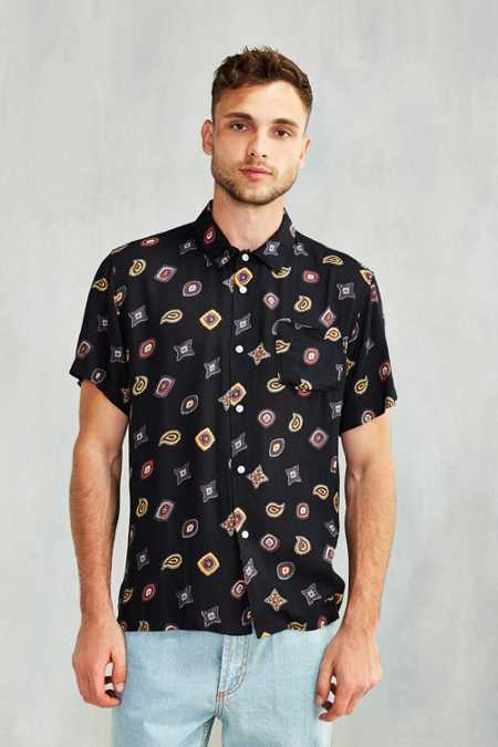OBEY Preston Rayon Short-Sleeve Button-Down Shirt