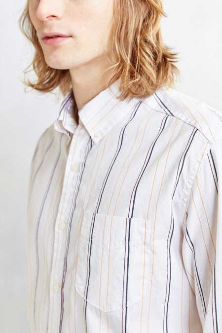 BDG '90s Thin Stripe Button-Down Shirt