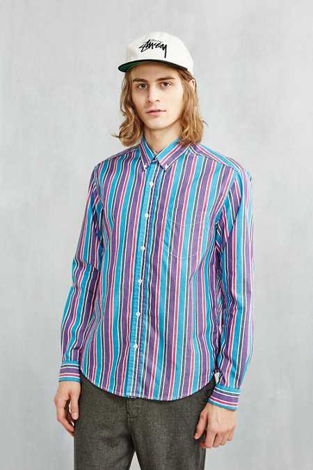 BDG '90s Bold Stripe Button-Down Shirt