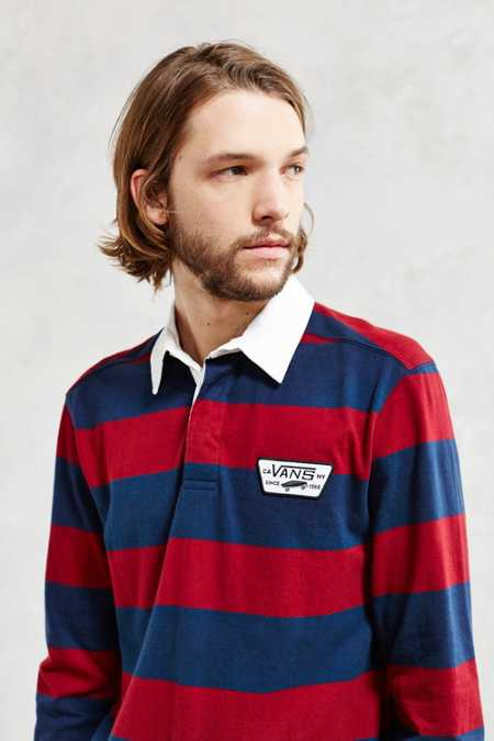 Vans Blocked Out Long-Sleeve Rugby Polo Shirt