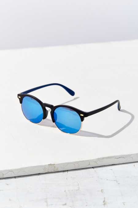 Cameron Rubberized Half-Frame Sunglasses
