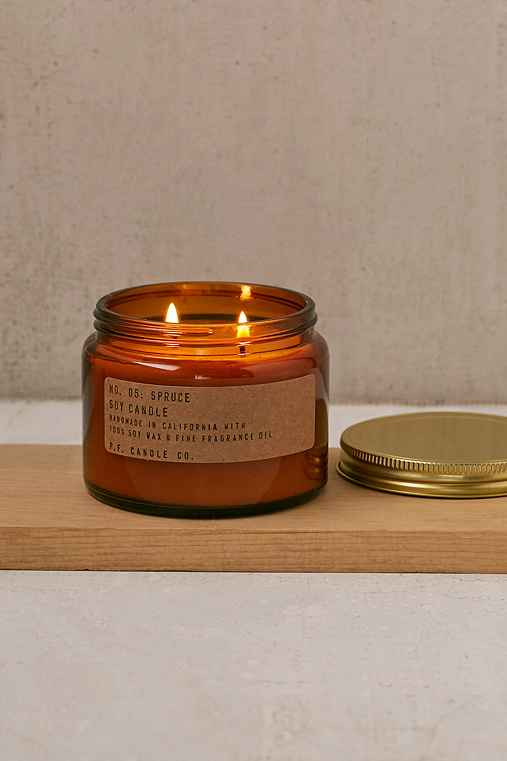 PF Candle Co. Double Wick Jar Candle,SPRUCE,ONE SIZE