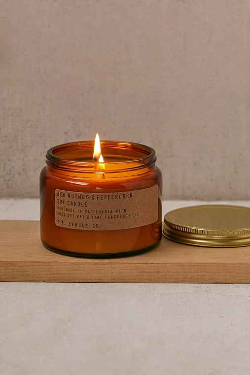 PF Candle Co. Double Wick Jar Candle,NUTMEG + PEPPERCORN,ONE SIZE