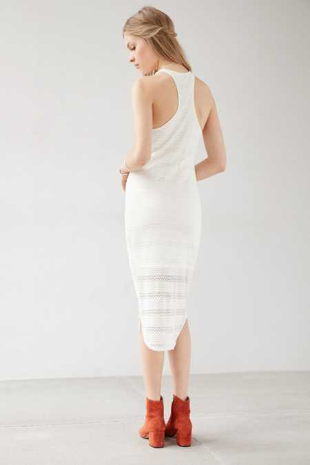 Ecote Linear Lace Bodycon Dress
