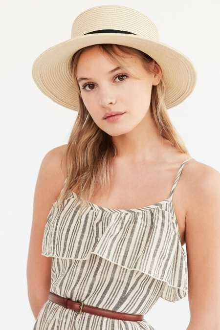 Madeline Straw Boater Hat