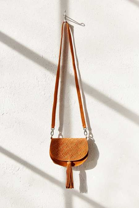 Ecote Leanne Suede Saddle Bag