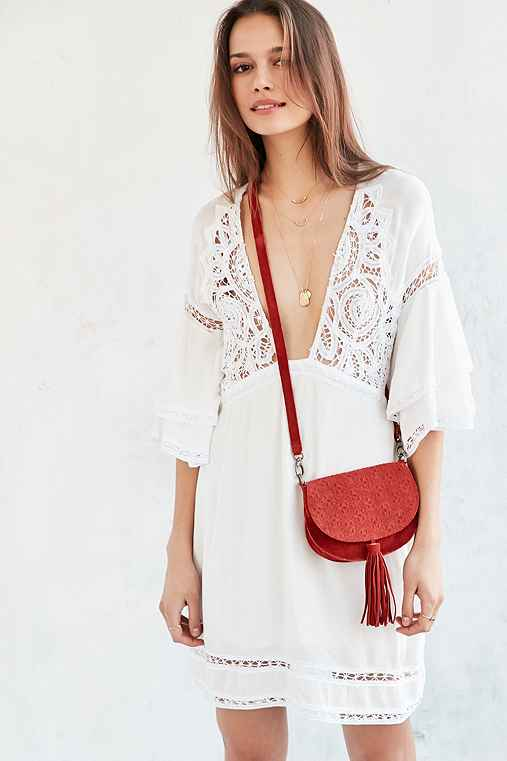 Ecote Leanne Suede Saddle Bag - Urban Outfitters