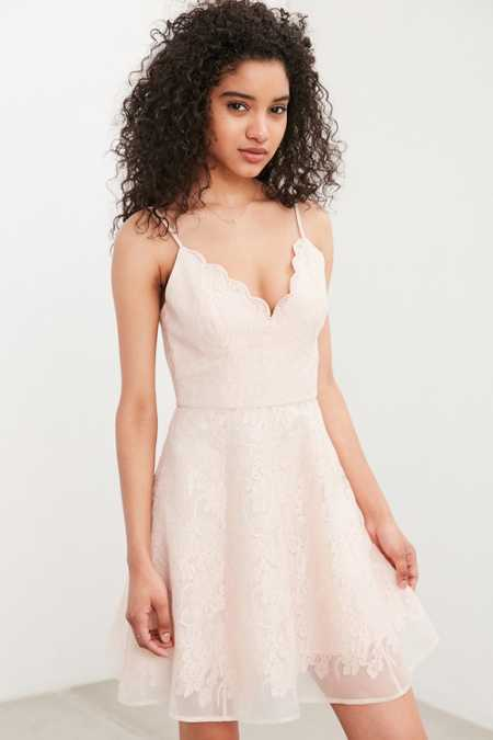 Keepsake Sun Dream Lace Fit + Flare Dress
