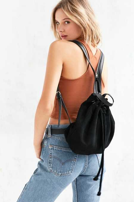 Silence + Noise Carmen Suede Mini Backpack