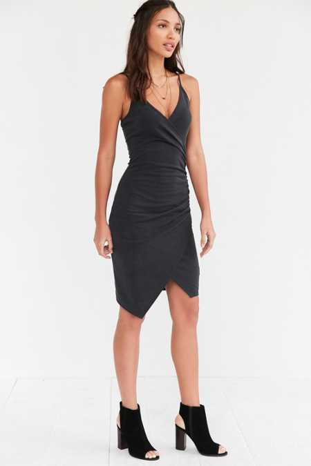 Silence + Noise Side Ruched Bodycon Dress