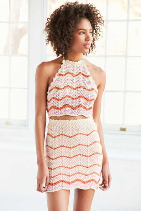 Ecote Crochet Chevron Set Skirt