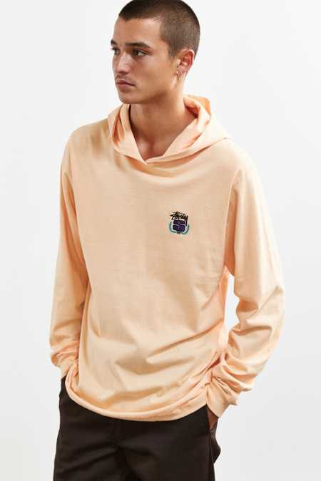 Stussy Embroidered Wreath Hooded Long Sleeve Tee