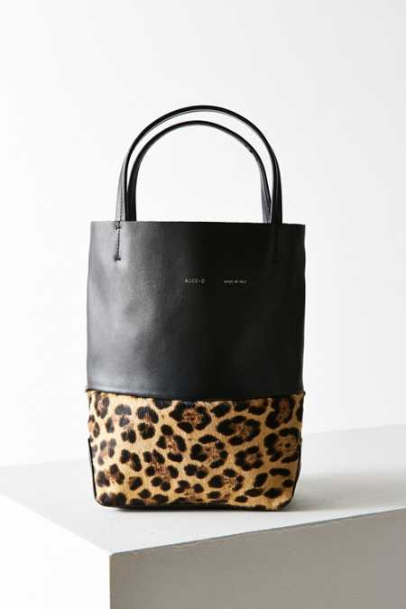 Alice.D Leopard Bucket Bag