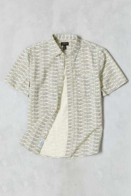 CPO Leaf Print Seersucker Short-Sleeve Button-Down Shirt