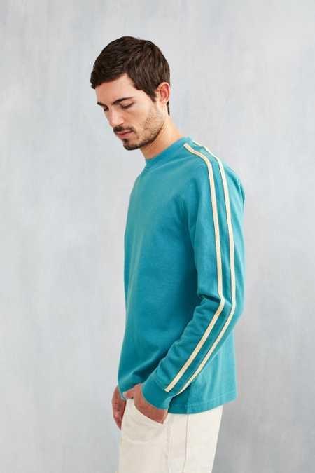 CPO Stripe Sleeve Pique Long-Sleeve Tee