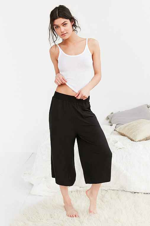 Out From Under Terry Perfect Culotte Pant,BLACK,M