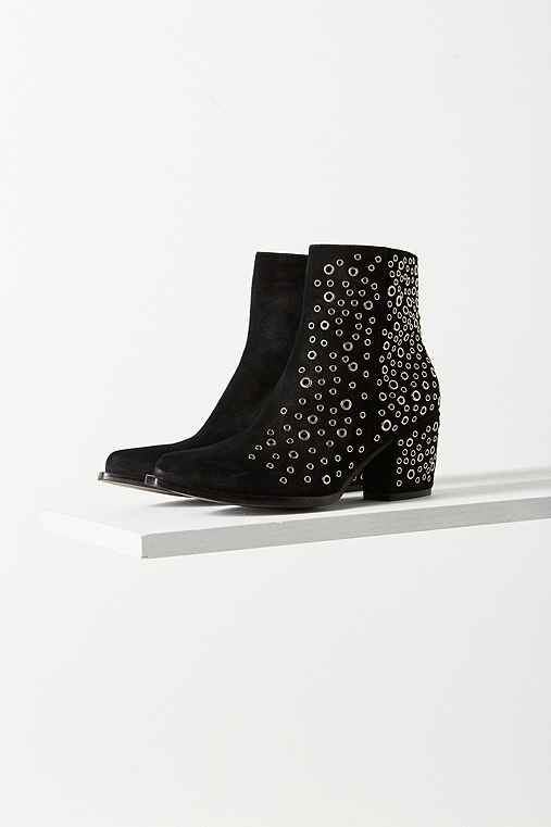 Jeffrey Campbell Bravado Eyelet Ankle Boot,BLACK,9