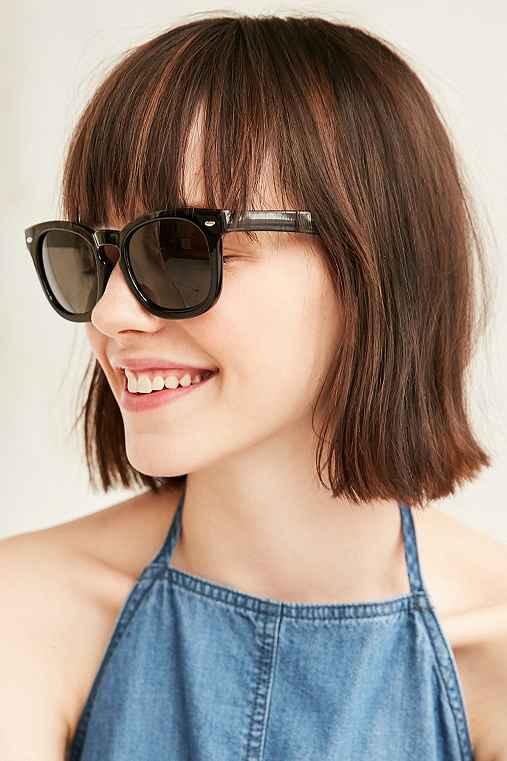 Lifeguard Square Frame Sunglasses,BLACK,ONE SIZE