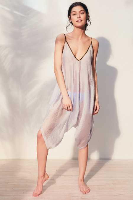 Without Walls Seersucker Romper Coverup