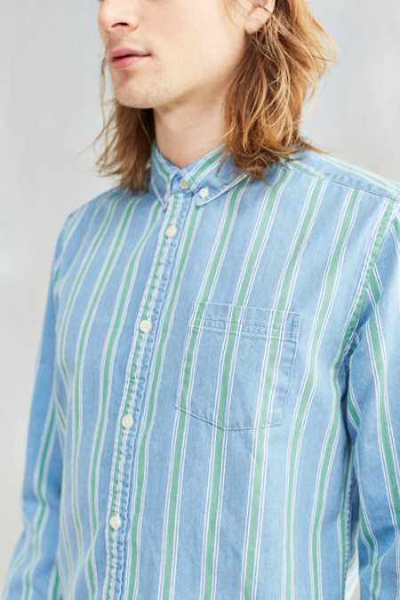 CPO Stevens Striped Denim Button-Down Shirt