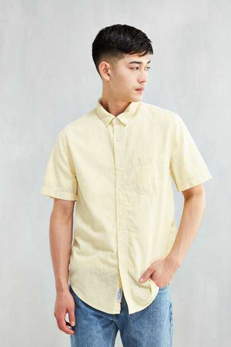 CPO Striped Seersucker Short-Sleeve Button-Down Shirt