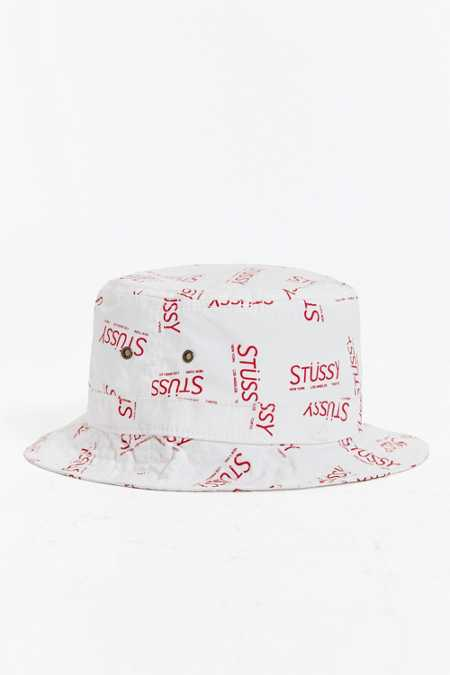 Stussy City Print Bucket Hat