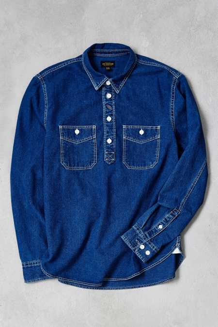 CPO Indigo Denim Long-Sleeve Popover Shirt