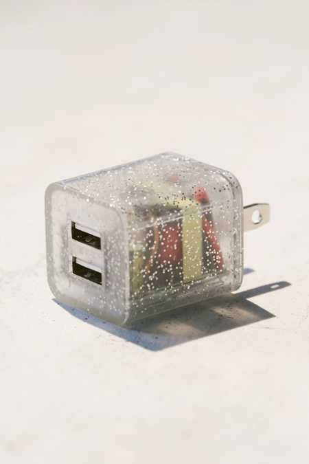 Friendship Forever Glitter Dual USB Wall Charger