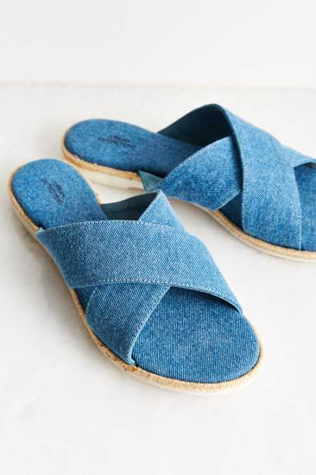 Denim Espadrille Slide